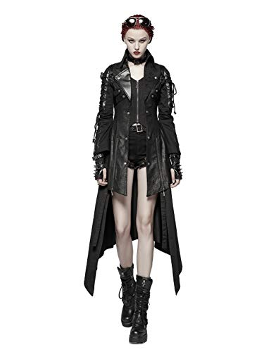 Punk Nero Rave Cappotto Donna Donna Punk Rave Cappotto Nero wRqZ8I