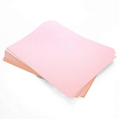 Stardream Rose Quartz Metallic Paper - 8 1/2 x 11, 81lb Text, 25 Pack