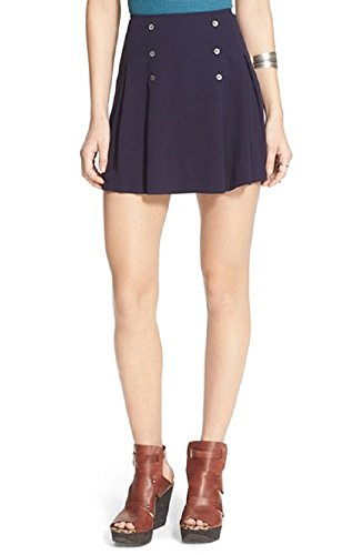 Womens-Free-People-Lovers-Lane-Miniskirt-Size-10-Blue
