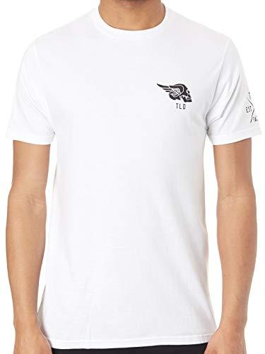 - Troy Lee Designs Men's Agent Skully T-Shirt (Medium, White)