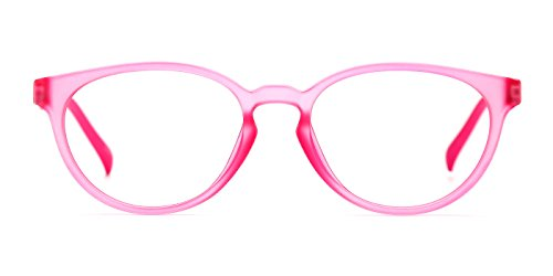 TIJN Kids Flex Oval Eyeglasses Frame for Girls Toddler (E, - Prescription Eyeglasses For Kids