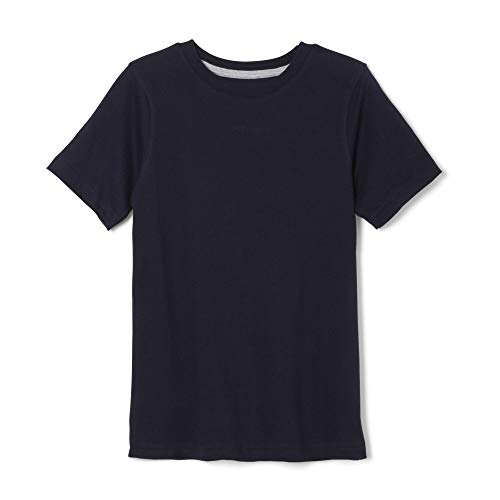 French Toast Boys' Short Sleeve Crewneck Tee,Navy,6