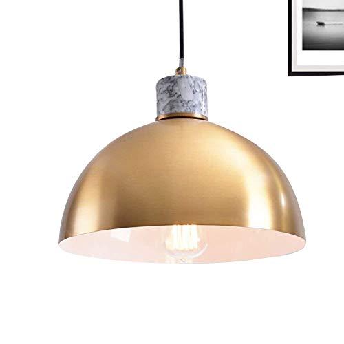 Lampworks Pendant Light Hemispherical Brass Lampshade