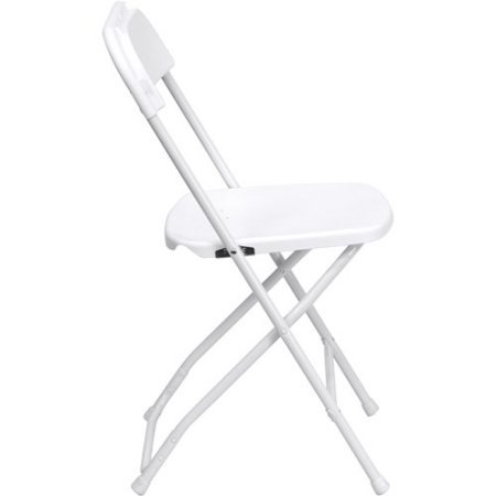 HERCULES Series Premium Plastic Folding Chair, White, Set of 4 by Hercules