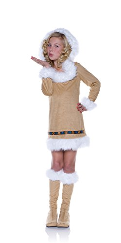 [Underwraps Women's Eskimo Kisses, Tan, Large] (Kid Eskimo Costume)