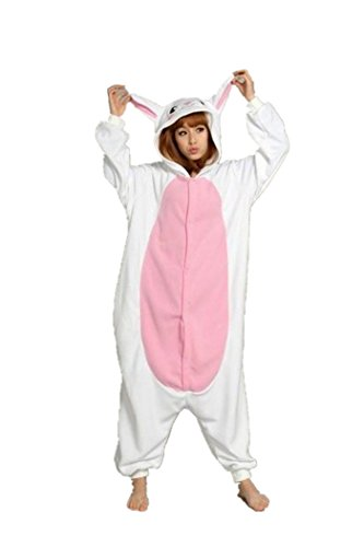 WOTOGOLD Animal Cosplay Costume Rabbit Unisex Adult Pajamas White (Rabbit Costumes For Adults)