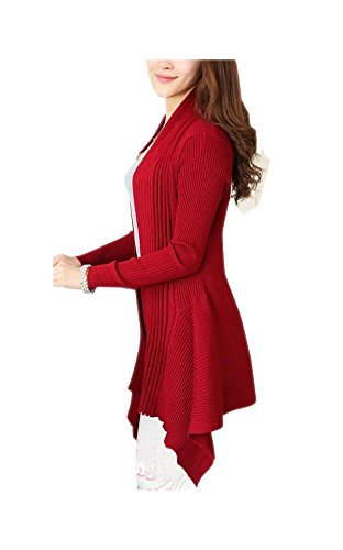 ARJOSA Irregular Stretchy Cardigan Sweater