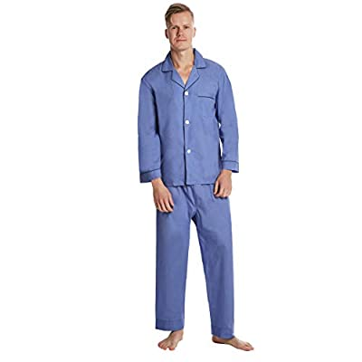 EVERDREAM Men's Pajama Set, Solid Lightweight Botton Down Pajamas for Men