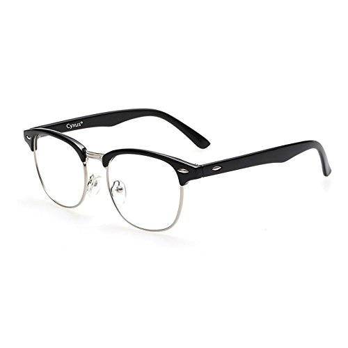 Cyxus Blue Light Filter [Anti Eye Strain] Semi-Rimless - Transparent Computer Screen