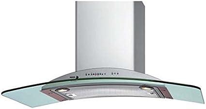 Fagor 3CFT-90 V De pared Acero inoxidable 800m³/h - Campana (800 m³/h, Canalizado/Recirculación, 640 m³/h, 50 dB, 64 dB, De pared): Amazon.es: Hogar