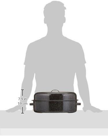 Roaster grand modèle de Warmcook / Cocotte à enfourner 46 x 31 x 19 cm Acier émaillé