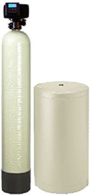 IRON Pro 2 Combination water softener iron filter Fleck 5600SXT digital metered valve for whole house (80,000 Grains, Almond)