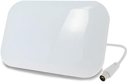 Antena interior TDT TV potente – 50 db – Blanca – Plate – Garantía 3 años