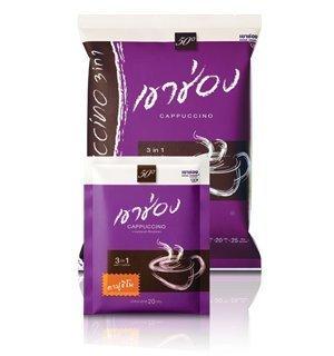 Khaoshong Coffee Mix Powder 3 in 1 Cappuccino 500g 25 Sticks Thailand.(20g. X 25 Sticks)