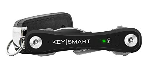- KeySmart Pro - Compact Key Holder w LED Light & Tile Smart Technology, Track Your Lost Keys & Phone w Bluetooth (up to 10 Keys, Black)