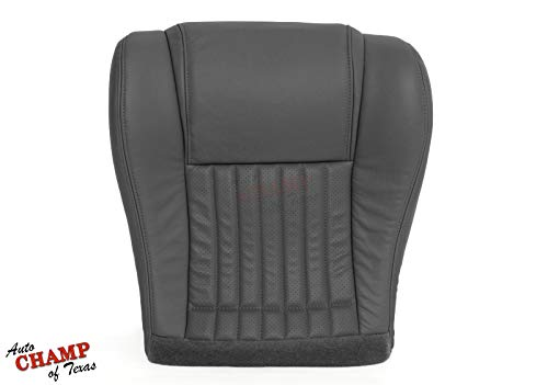 (Auto Champ Of Texas 1996-1999 Pontiac Firebird Trans Am -Driver Side Bottom Leather Seat Cover Gray)
