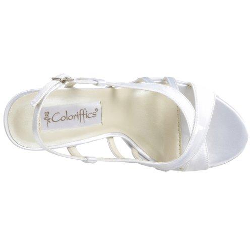 Coloriffics Kvinners Riley Plattform Slingback Sandal Hvit