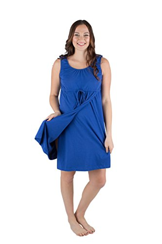 Baby Be Mine 3 in 1 Labor/Delivery/Nursing Hospital Gown Maternity, Hospital Bag Must Have (L/XL, Saphire Blue)
