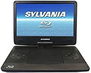 SYLVANIA 13.3-Inch 720p Portable Blu-Ray, DVD, CD, USB, SD Multi Media Player High Resolution HD (Renewed)