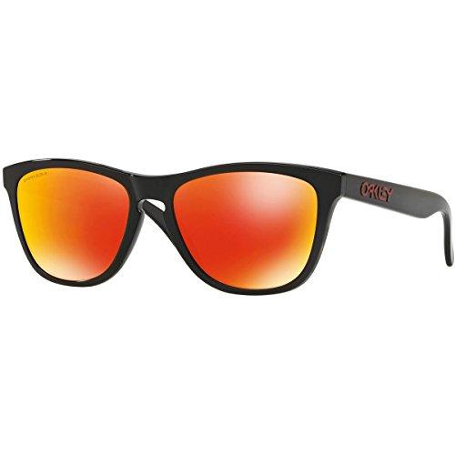 Oakley Men's OO9013 Frogskins Square Sunglasses, Black Ink/Prizm Ruby, 55 mm (Oakleys Frogskin)