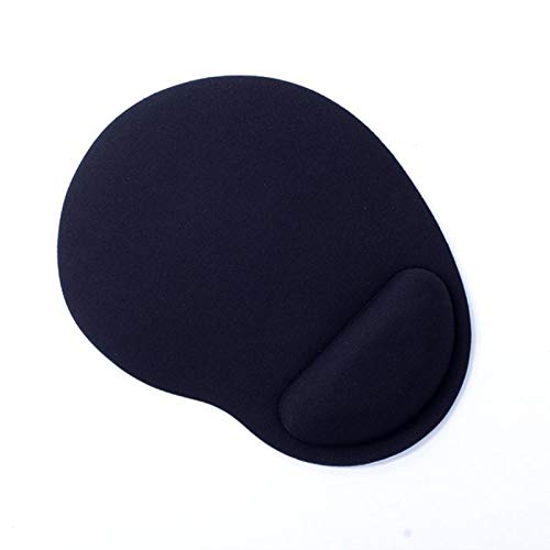Fragil Tox Pc Wrist Support Thicken PC Mouse Pad Game Mouse Soft with Wrist Rest Support Mat for Gaming PC Laptop for Office Computer Mac 4mm EVA Black