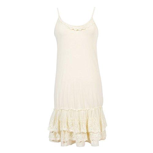 - Peekaboo-Chic Classy vs Sassy Strap Slip Dress Extender (Cream, 1X)