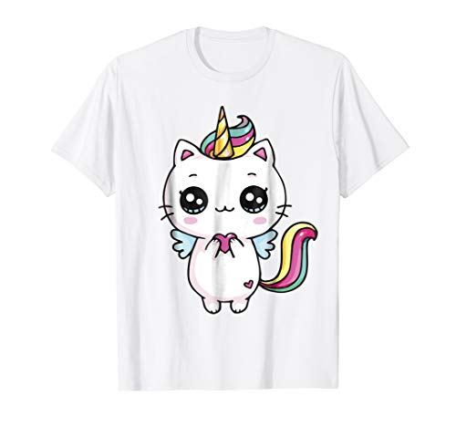 Caticorn Meowgical Rainbow T-shirt Cat Kittycorn Unicorn Tee -