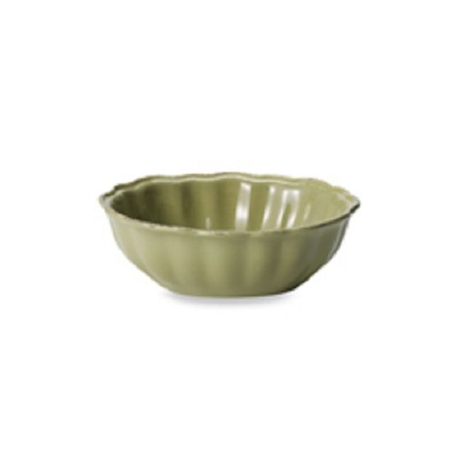 The Boutique Tabletop Gallery Green Oval Scalloped Fluted Salad Cereal Soup Bowl 7 1/8