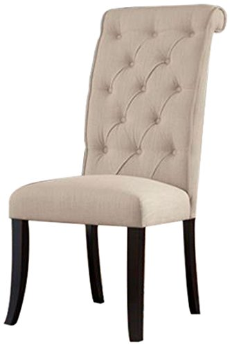 Ashley Furniture Signature Design Tripton Dining UPH Side Chair, Linen, Set of - Chair Side High Dining