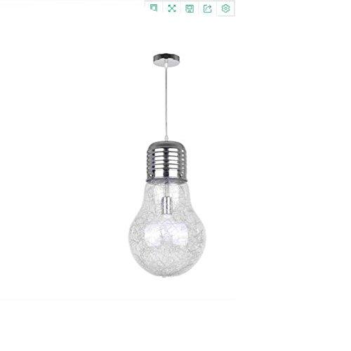 BB.er Simple Glass Creative Light Bulb Living Room Bedroom Study Personality Pendant Light, Diameter 220mm ()