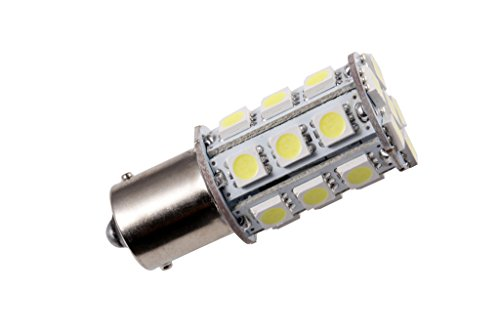 GRV Ba15s 1156 1141 High Power Car LED Bulb 24-5050SMD AC/DC 12V-24V Cool White Pack of 2 by GRV