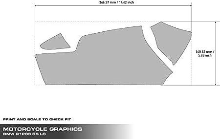 Uniracing K47949 Kit de decoraci/ón y protecci/ón basculante para BMW 13 LC 14-18 R1200GS ADV 19-20 Blanco Sport R1250GS-Adv