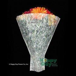 Printed Flower Sleeve''Nina Moon'' Blue BOPP 4'' x 20'' x 14''- Pack of 100 Sleeves