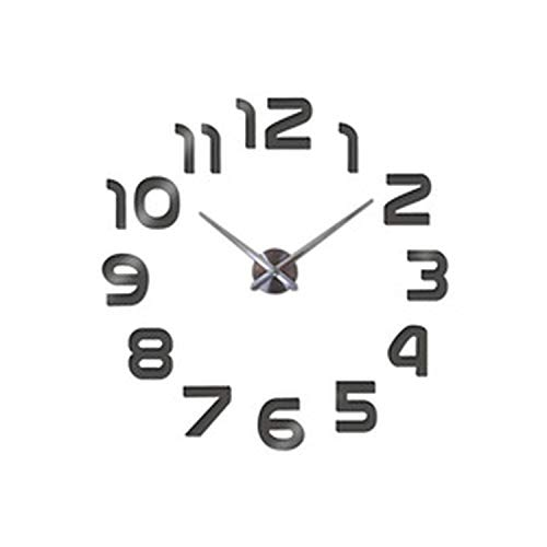 Chllrg New Clock Watch Wall Clocks horloge 3D DIY Acrylic Mirror Stickers -