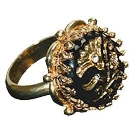 Jack Sparrow Flower Button Ring Replica - DeluxeAdultCostumes.com