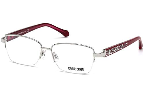 Model: RC0929 | Color A16 Frame Silver/red w/ Clear Demo Lens (Cavalli Silver Lens Roberto)