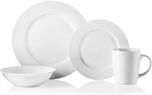 Undecorated Dinnerware Oneida Plate (Oneida Naturally White 16-Piece Dinnerware Set)