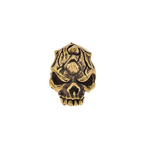 MOPOLIS Solid Brass Skull Conchos Screw Button Leathercraft for Wallet Biker Trucker 1pc | XZ - #05 ()