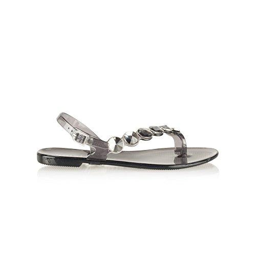 Holster - Sandalias de vestir para mujer negro gris