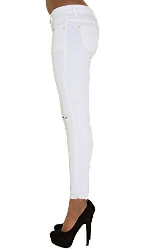 LustyChic Damen Skinny Jeanshose Weiß Weiß 32 34 36 38 40