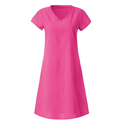 Women T-shirt Cotton Dress Clearance Sale, NDGDA Summer Style Casual Plus Size Ladies Dress (Dresses Plus Size Sale)