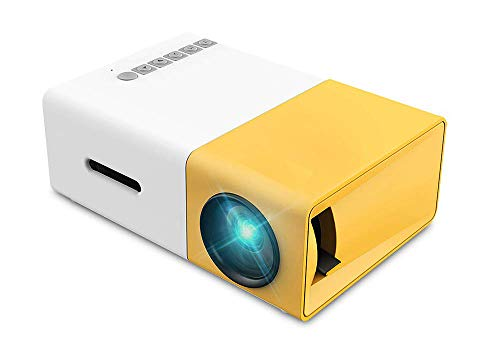 Mini Projector, Portable Pico Full Color LED Movie Projector for Children Present, Video TV Movie, Party Game, Outdoor…