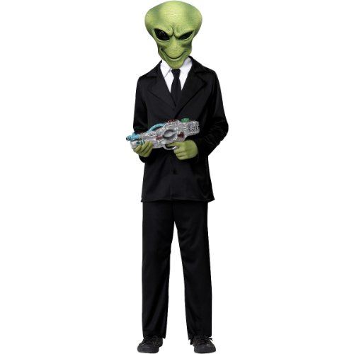 Area 51 Alien Costumes (California Costumes Alien Agent Child Costume, X-Large)