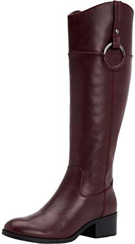 Alfani Women's Shoes Bexleyy Leather Almond Toe Mid-Calf Fashion Boots