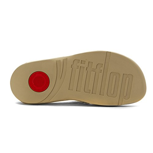 FitFlop Women39;s Lattice Surfa Sandales - Pale Gold Leather