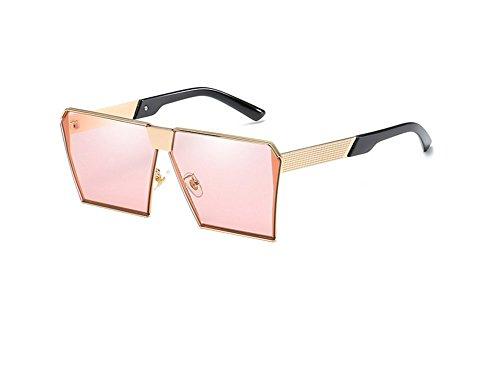 Hombres De A Marco Brillante Manera La Gafas Grandes De De Sol Color De Vidrios De CTCrWZf