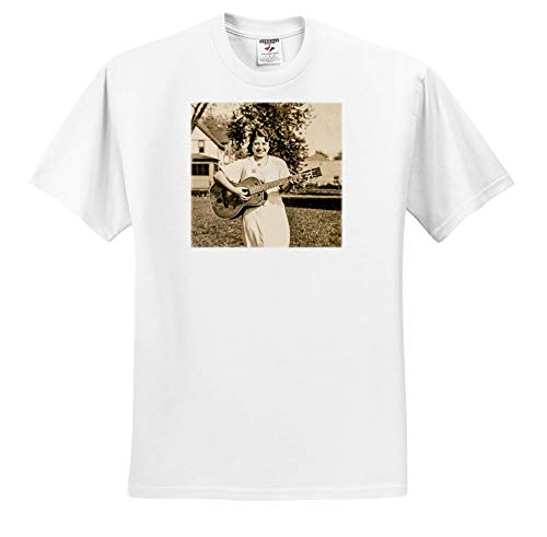 Scenes from The Past - Vintage Photography - Early American Country Folk Singer with Guitar - T-Shirts - White Infant Lap-Shoulder Tee (18M) (ts_301328_68)
