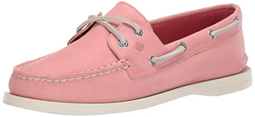 SPERRY Women's A/O 2-Eye Boat Shoe, Washed Red, 10