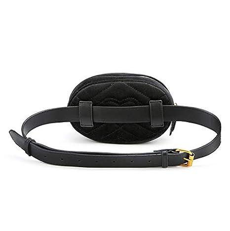 HDz Store Waist Belt Bag Women Rivets Lions Fanny Pack Bags Luxury Brand Fashion Velvet Leather Handbag PU Black Blue Red Beige
