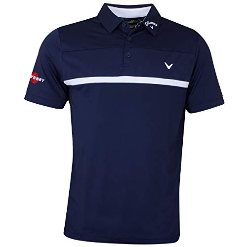 Tour Player - Callaway Golf 2019 Mens Premium Tour Players Opti-Dri Golf Polo Shirt Peacoat Medium